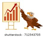 growth chart. american eagle...   Shutterstock .eps vector #712543705
