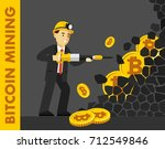 cryptocurrency concept with... | Shutterstock .eps vector #712549846