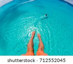 View Of Feet Parasailing With...