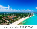 cancun aerial view of the... | Shutterstock . vector #712552066