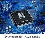ai  artificial intelligence... | Shutterstock . vector #712558588