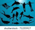 deep sea | Shutterstock .eps vector #71255917