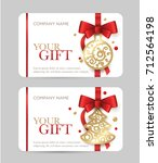 new year gift card. christmas... | Shutterstock .eps vector #712564198