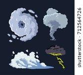 hurricane storm surge tornado... | Shutterstock .eps vector #712564726