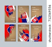 slovakia patriotic cards for...   Shutterstock .eps vector #712569556