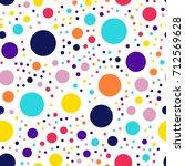 memphis style polka dots... | Shutterstock .eps vector #712569628