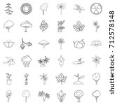 seed icons set. outline style...   Shutterstock .eps vector #712578148