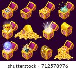 golden trophies in isometric...