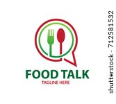 food talk logo | Shutterstock .eps vector #712581532