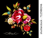 illustration of flowers.... | Shutterstock .eps vector #712588246