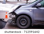 car accident. auto crash  wreck ... | Shutterstock . vector #712591642