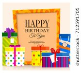 pile of gift boxes for your...   Shutterstock .eps vector #712591705