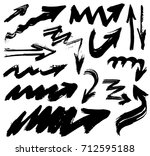 big set with hand drawn... | Shutterstock .eps vector #712595188