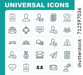 network icons set. collection... | Shutterstock .eps vector #712597036