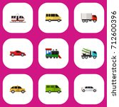 set of 9 editable automobile...