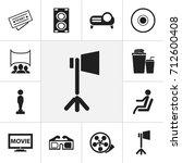 set of 12 editable movie icons. ...