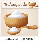 baking soda. detailed vector... | Shutterstock .eps vector #712601098