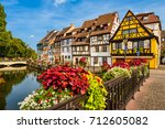 old town of colmar  alsace ... | Shutterstock . vector #712605082