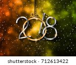 2018 happy new year background... | Shutterstock . vector #712613422