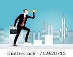 businessmen in the city looking ...   Shutterstock .eps vector #712620712