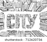modern city illustration....   Shutterstock . vector #712620736