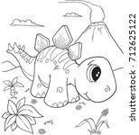 Cute Stegosaurus Dinosaur...