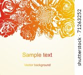 vector postcard with colorful... | Shutterstock .eps vector #71263252