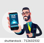 happy smiling manager man... | Shutterstock .eps vector #712632532