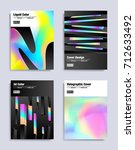 abstract covers design set.... | Shutterstock .eps vector #712633492
