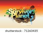 survivor planet vector | Shutterstock .eps vector #71263435