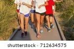 a high school girls cross...   Shutterstock . vector #712634575