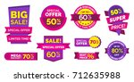 sale banner vector set for...   Shutterstock .eps vector #712635988