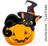 illustration of halloween... | Shutterstock .eps vector #712637686