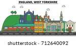 england  west yorkshire. city... | Shutterstock .eps vector #712640092