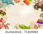 toys  candy   childhood... | Shutterstock .eps vector #71264083