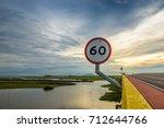 speed   limit sign do not... | Shutterstock . vector #712644766