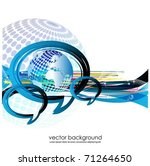 vector background with globe... | Shutterstock .eps vector #71264650