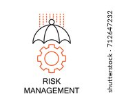 risk management creative idea... | Shutterstock .eps vector #712647232