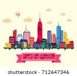 vector illustration of new york ... | Shutterstock .eps vector #712647346