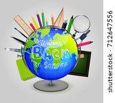 vector illustration of welcome... | Shutterstock .eps vector #712647556