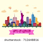 vector illustration of new york ... | Shutterstock .eps vector #712648816