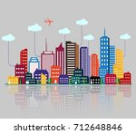 vector illustration of colorful ... | Shutterstock .eps vector #712648846