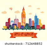 vector illustration of london... | Shutterstock .eps vector #712648852