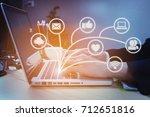 brainstorm teamwork meeting... | Shutterstock . vector #712651816