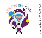 cute animal series. space... | Shutterstock .eps vector #712652062
