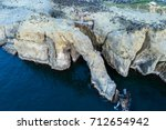 aerial views on marine erosion... | Shutterstock . vector #712654942