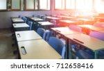 school classroom in blur... | Shutterstock . vector #712658416