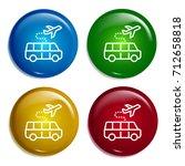 travel multi color gradient... | Shutterstock .eps vector #712658818