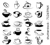 coffee and tea design elements   Shutterstock .eps vector #71265964