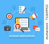 human resources flat... | Shutterstock .eps vector #712659922